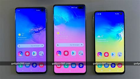 samsung galaxy s10 galaxy s10 galaxy s10e price specifications compared ndtv