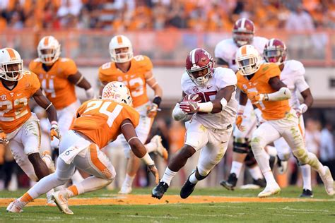 tennessee  alabama kickoff time tv channel  link odds rocky top talk