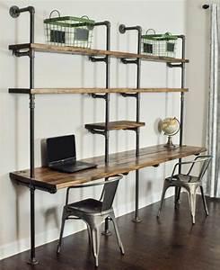 Bureau Bois Brut : decoration bureau style industriel ~ Melissatoandfro.com Idées de Décoration