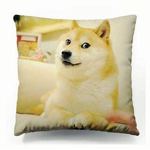 Hot Funny Doge Cushion Cover Dogs Wow Such Face Much Meme