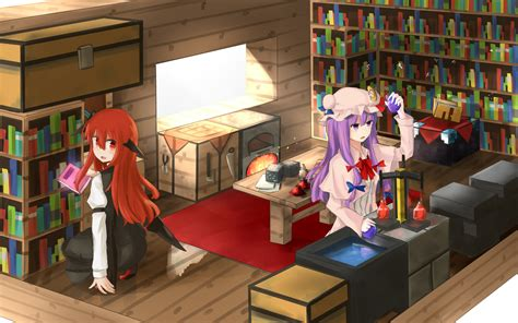 Anime Minecraft Wallpaper - minecraft touhou wallpaper by hinami047 enjoy 3 image