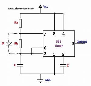 7805 Voltage Regulator Powering Astable 555 Timer Yields