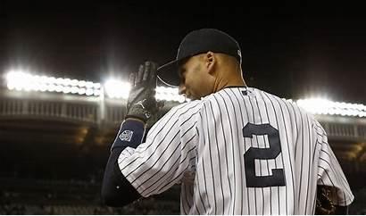 Jeter Derek Yankees Wallpapers York Number Wallpapertag