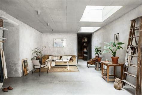 livingroom interiors concrete walls interior trend in a scandinavian home tour