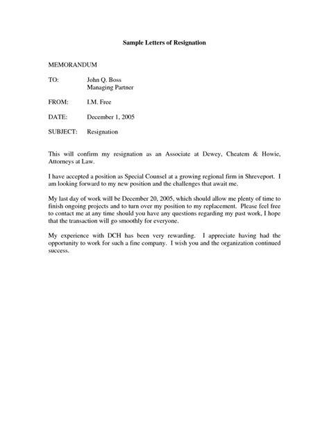 Resignation Letter Template Free ~ Addictionary