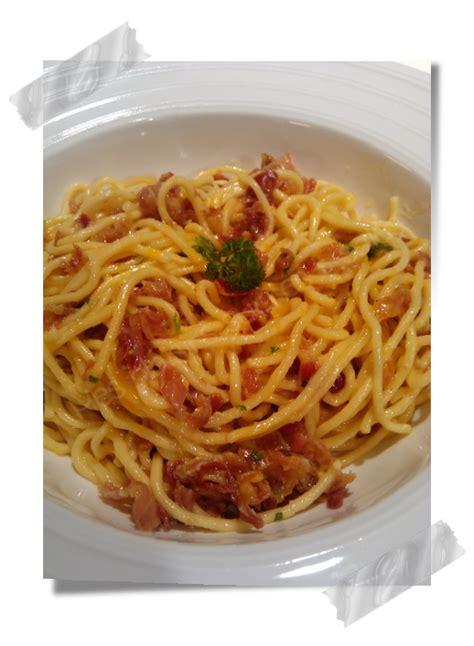 mes plaisirs sucr 233 s sal 233 s spaghettis carbonara 224 l italienne