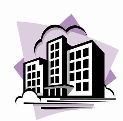 Apartment Building Living State Clip Cartoon Purple