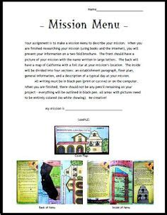 4th grade mission project template 1000 ideas about california history on california regions gold and social studies