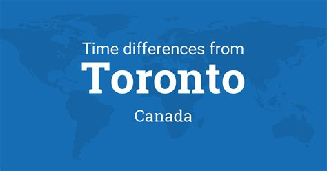 time difference  toronto ontario canada   world