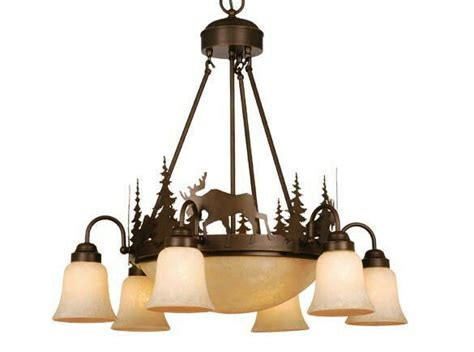 Lodge Chandeliers by Moose Vaxcel Yellowstone Rustic Country Chandelier Lodge