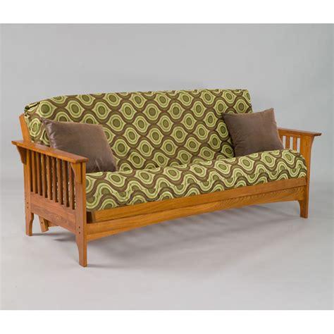 boston cherry oak futon set dcg stores