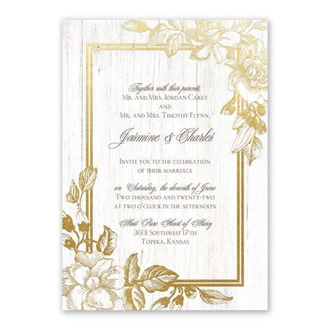 gardenia glow foil invitation invitations  dawn