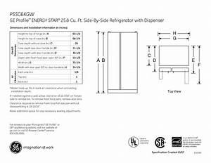 Ge Profile Energy Star Pssc6kg Manuals