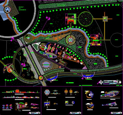 recreational resort  dwg design full project  autocad