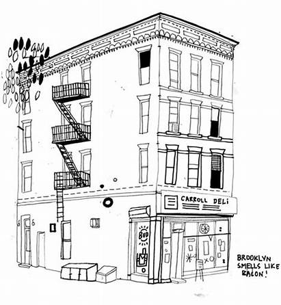 Buildings Draw York Drawings Drawing Hancock Friend