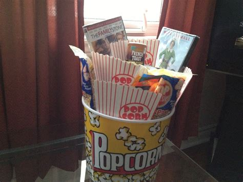 great gifts for adult unisex xmas themed gift basket a of popcorn filled with a throw popcorn