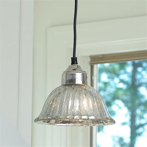 fluted mercury glass bell pendant pendant lighting by