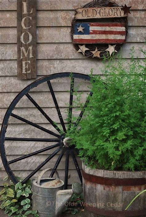 Old Glory Decor Red White Blue Garden Rustic