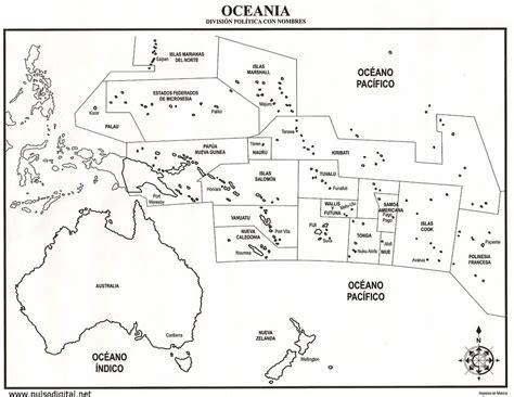 Mapa politico de oceania para colorear con nombres Imagui