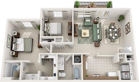Two Bedroom Floor Plans  Charleston Hall Apartments