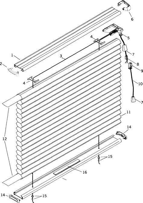 replacement parts for pleated and cellular shade