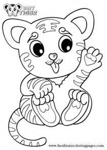 Cute Baby Tiger Coloring Pages 800u00d71120 Pixels