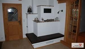 Moderner Kachelofen Ohne Sichtfenster Mit Ofenbank Aus
