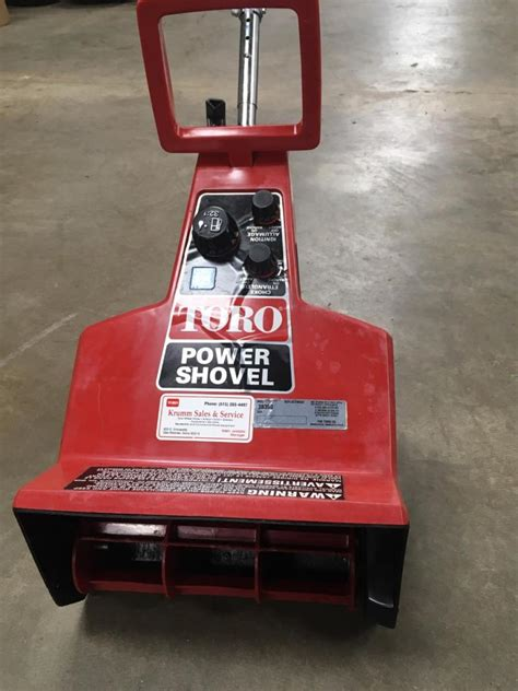 rare toro gas power shovel snowblower forum snow