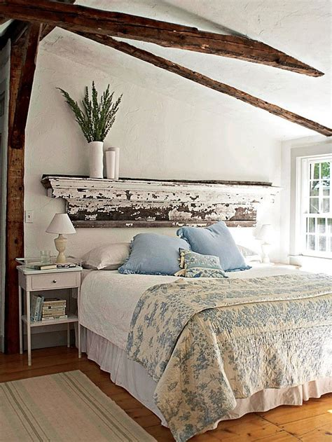 chic bedroom decorating with white in a rustic shabby chic bedroom Rustic