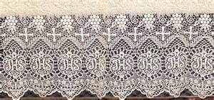 indian wedding decoration ecclesiastical vintage altar cloth linen with lace
