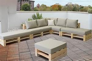 Comment Recouvrir Un Canapé D Angle : tuto un canap d 39 angle en palettes comment cr er ~ Melissatoandfro.com Idées de Décoration
