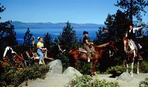riding horseback tahoe lake stables south zephyr cove resort