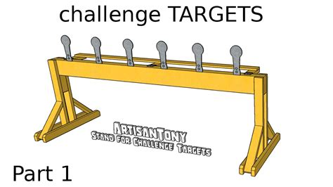 challenge targets diy auto reset popper plates part  building  stand youtube