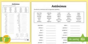 * New * Ficha De Actividad Escribe Los Antónimos  30 Palabras