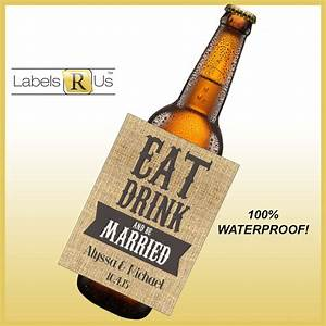 items similar to wedding beer bottle labels beer labels With beer label paper waterproof