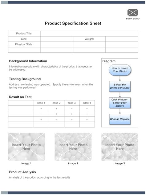 product spec sheet template 5 free specification sheet templates word excel pdf formats