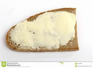 One Slice Of Bread With Butter Stock Photo - Image: 23594462