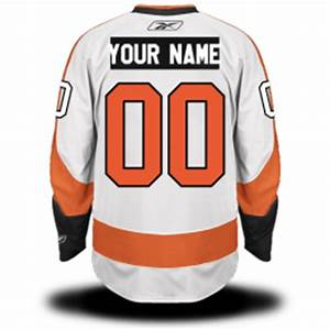 Philadelphia flyers custom letters numbers kits on for Hockey jersey lettering kit