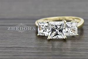310 ct three stone princess cut ring engagement wedding With best wedding band for three stone engagement ring