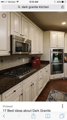 small kitchens with cabinets tropic brown granite countertops home ideas 8110