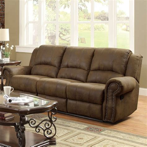 traditional settee traditional brown microfiber nailhead accent sofa living