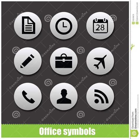 pictogramme bureau symboles de pictogramme de cercle de bureau de web image