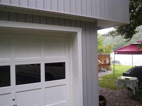 garage door trim methods of wrapping o garage door frame