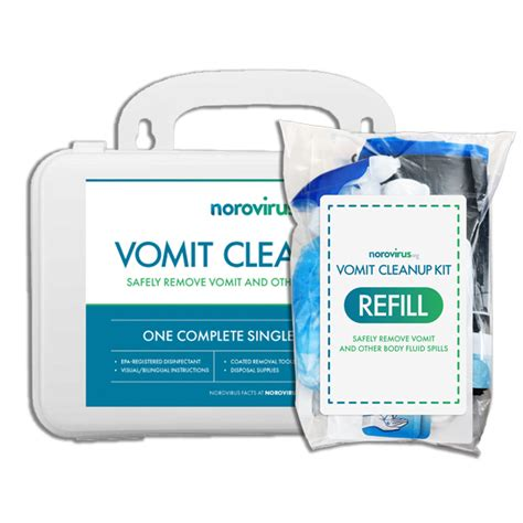 vomit cleanup kit  refill norovirus