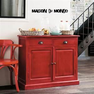 Meuble De Maison : buffet rouge gascogne maison du monde atelier meuble indus ~ Teatrodelosmanantiales.com Idées de Décoration