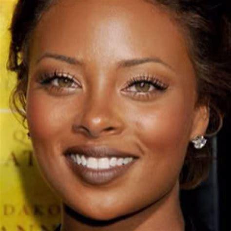 african american  natural hazel eyes