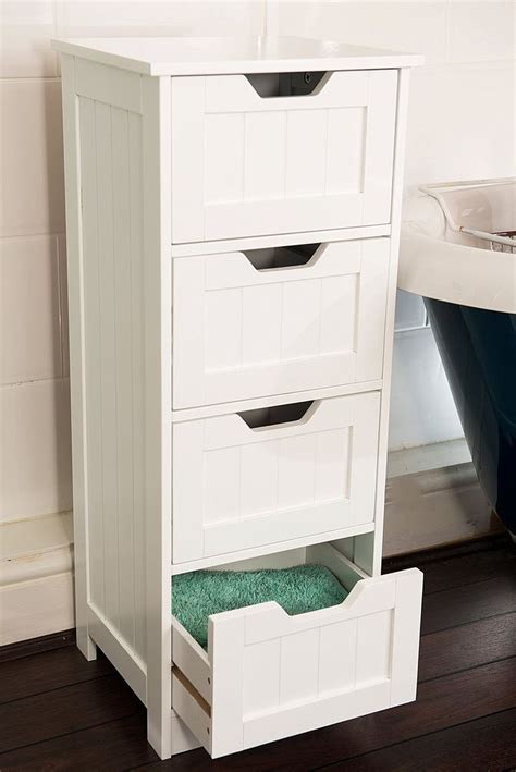 kitchen drawer storage solutions white storage cabinet 4 large drawers bathroom or 4732