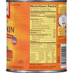 Libbys Pumpkin Pie Mix Nutrition Information by Calories In Pumpkin Puree