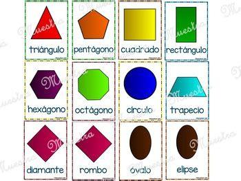 "Figuras Geométricas Planas "" Posters  Flash Cards"" By Educaclipart"