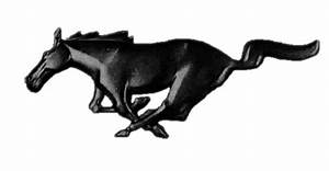 Black pony logo for a tattoo - The Mustang Source - Ford ...